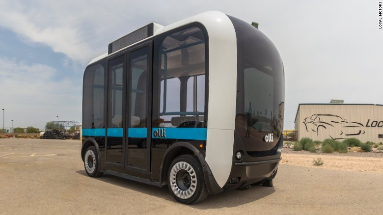 self-driving bus